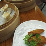 Steamed buns, dumplings and chicken wings