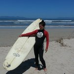 My Wife at her Son Surf lesson