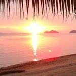 Sunset view@hotel's beach