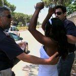 Festnahme einer illegalen Prostituierten - Castel Volturno