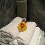 Prestigue suite - rubber duck in the bathroom