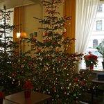 ロビーラウンジにおかれたクリスマスツリー