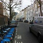 Bike self service rent on same street