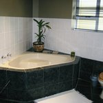 Modern bathroom separate bath & shower