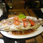 Эту рыбу нам приготовили после нашей рыбалки