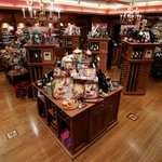 The gift shop changes seasonally