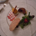 Foie gras de canard mi cuit, sorbet Mangue