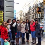 Students from all over the world at our Deca Student Group Shopping Tour this December.