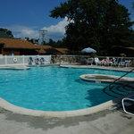 Enjoy the Depe Dene heated pool