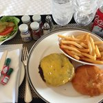 Westin St. Francis Hotel - San Francisco, California ($40 hamburger and fries)