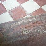 Tiles outside bungalows trip/health hazard