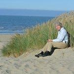 having a rest in the dunes of nearby Oostduinkerke -081013