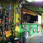 The funky Key Lime Cafe snack shack