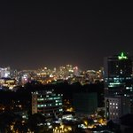 night city view from the roof top bar