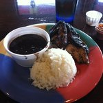 1/4 Chicken white meat, Black Beans n White Rice