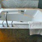 Luxury bathtub in our room, very comfortable