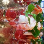 Shrimp shooter served at party
