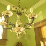 Room #5, bathroom chandelier