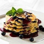 Blueberry pancakes at Applewood Inn