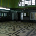 Zagan Station waiting hall - where Williams wathced in trepidation as Codner bought the tickets