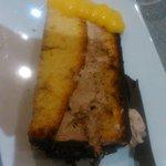 """tarta de chocolate, dura, dura y seca, no se pudo comer-""""a la carta"""""""
