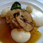 Butter-roast free-range turkey, chestnut stuffing, celeriac and truffled jus