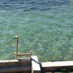 View of water from our balcony - see how clear it is