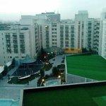 View from room overlooking courtyard/garden area