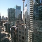 """view of CN Tower from room on the """"Executive Floor"""""""