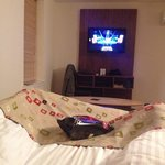 Watching TV in bed