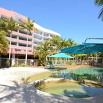 Riviera has one of the best tropical style heated and cooled pools in Hervey Bay