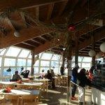 Bettmeralp - Bettmerhorn Mountain Restaurant - interior, on the right self service line