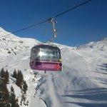 Bettmeralp - Bettmerhorn Mountain Restaurant can only be reached by gondola lift