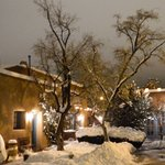 Santa Fe can be a Winter Wonderland at Pueblo Bonito Inn!