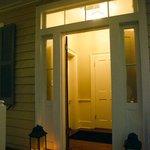 Candlelit entryway