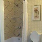 bath...nice tiled shower
