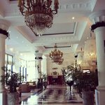 the gorgeous hotel lobby