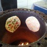 Spicy Masala naan in tandoor