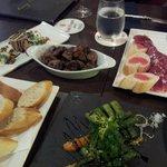 tapas - iberico ham, mushroom, asparagus, terrine