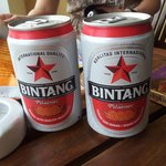bintang beer - recommend to buy at the ferry terminal