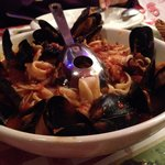 Linguine Fruti de Mare: soggy over cooked pasta