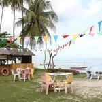 Das Resort liegt direkt am Strand
