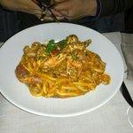 spaghettoni con granchio e cozze... divino