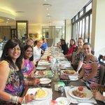 Our Corporate ladies enjoying their Breakfast