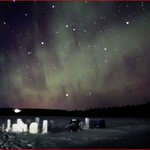 aurora desde el lago primera noche