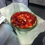 A strawberry tart made on the pastry class