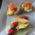 Salmon Benny at Harvest Cafe