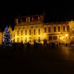 Town Hall and Basillica of the Blood by night