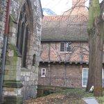 a corner of the churchyard