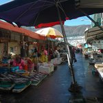 The local market just steps away from guesthouse